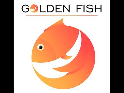 Golden Fish logo design fish animal studying vectorart logo branding vector illustration illustrator vector art study
