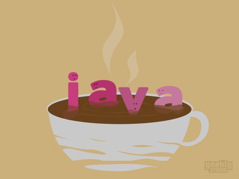 Java comic humor illustration programmers software developer geek nerd programming java