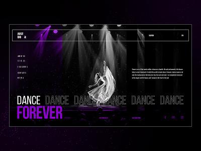 Dance school opera theatre black and white fiolet webstudio usa nyc ballet school dance 2019 ux ui mango dark website black design
