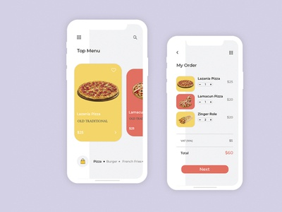 Food Order Delivery App UI Concept