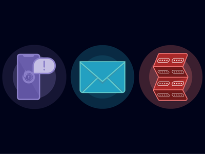 Passloch Icon Set push push notification email codes verify accounts account verification icon set passloch
