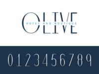 Olive Logo and Number Set