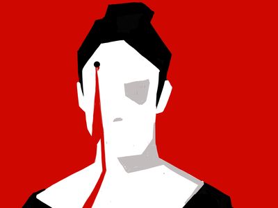 headshot wallpaper design animation illustraion