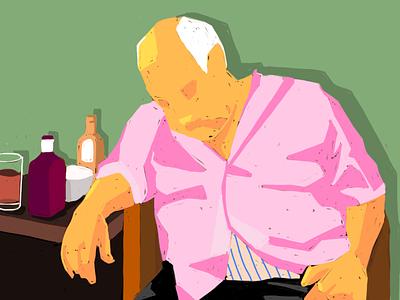 drunk animation wallpaper illustration
