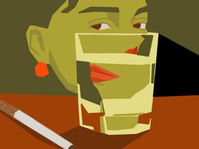 Break drink drawing digital illustration illustration