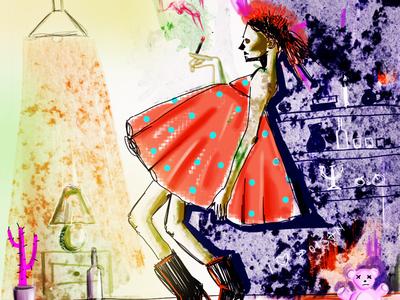 After life girl digital illustration illustration