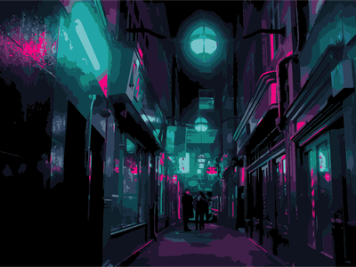 Alley up vector animation illustration