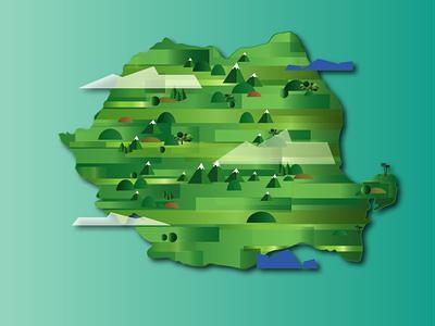 Romania animation vector illustration