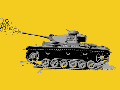Peace Tank design wallpaper illustration