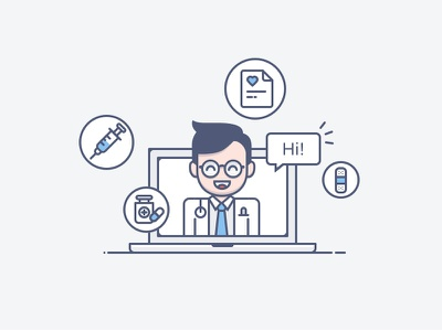 Doctor Illo medical icons illustration doctor