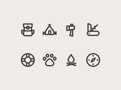 Camping Icon Set outdoor icon set icon camping