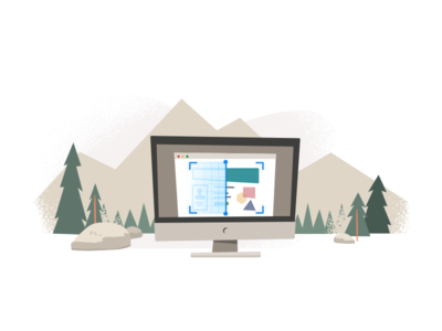 Scan trailhead scan salesforce nature illustation