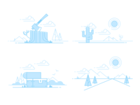 Empty state illos trailhead duo tone nature slds lightning design system salesforce illustration empty states