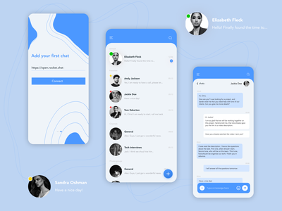 Chat mobile app ui social media design messages chatting chat chat app messenger app facebook telegram social media messenger figma