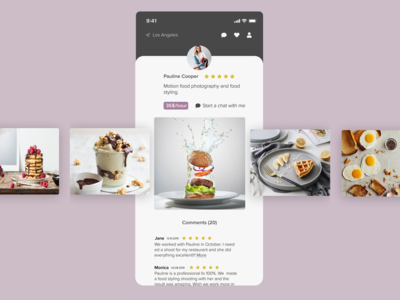 Hire a foodphotographer with FoopApp