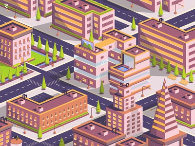Urban Area city illustration isometric city isometric illustration isometric design isometric isometric art isometry flat illustration illustration art adobe illustrator vector simple design illustration flatdesign design