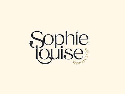 Sophie Louise speciale belge beer vintage lettermark design typography mark logotype