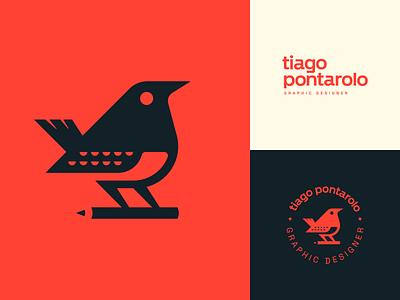 Tiago Pontarolo - Personal Branding pontarolo tiago graphic designer robin turdus bird parana sabia personal branding vector animal illustration branding mark logotype