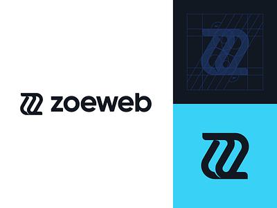 Zoeweb z zoeweb rebranding monogram logo icon typography mark branding brand logotype design