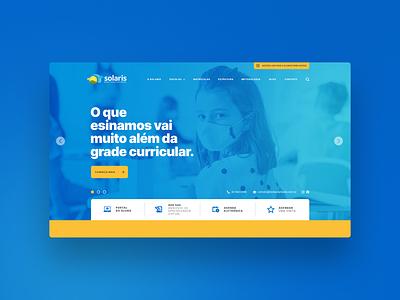 Solaris ux ui design school education interface uidesign uxdesign website graphic design