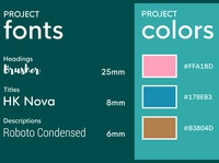 Project fonts and colors