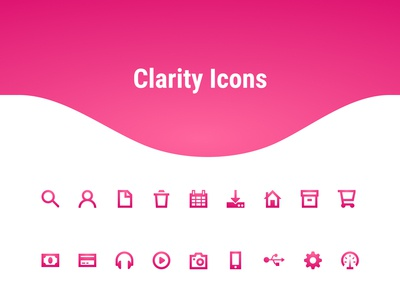 Clarity Icons  - Icons made for visibility (freebie)