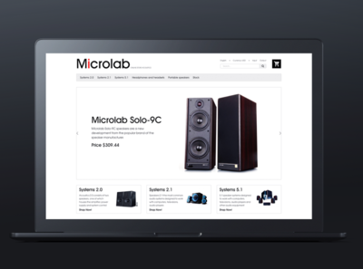 The website of acoustic systems /Microlab/