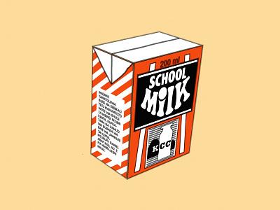 Isometric Milk Box maziwa kcc box school milk africa kenya nairobi 3d vector illustration