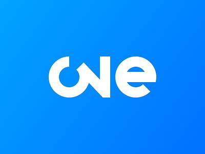 One Logo project idea clean bold 3 three 1 one logo design identity branding