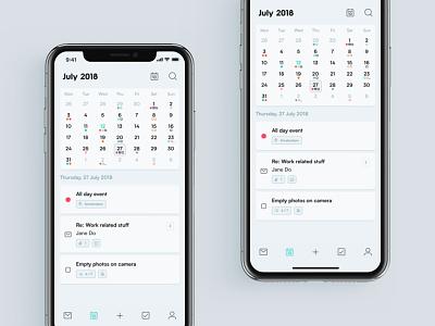 Layers App — Calendar visual to-do task logo layers kalender identity email design branding app