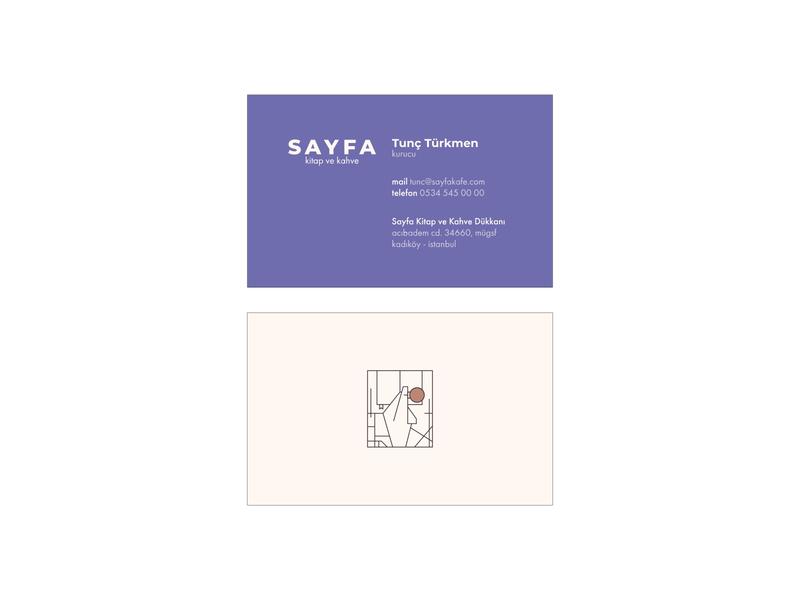 Sayfa Book & Coffee - Business Cards