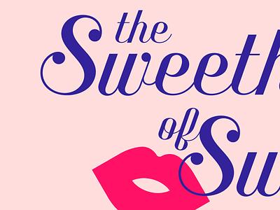The Sweethearts of Swing kiss lips script benson script music swing logo