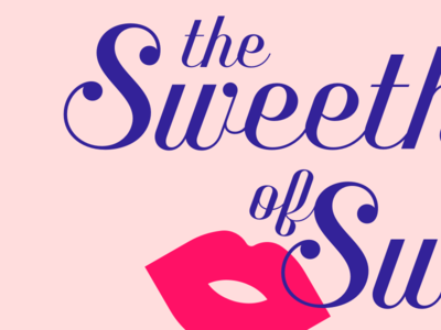 The Sweethearts of Swing kiss lips script benson script music swing logo