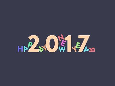 Happy New Year 2017 brandon text new year hny2017