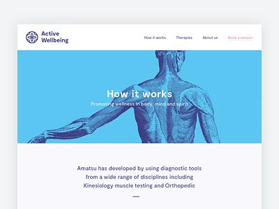 Active Wellbeing Website moderat branding logo anatomy amatsu typography web design