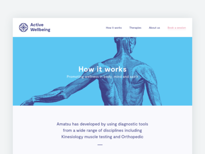 Active Wellbeing Website moderat branding logo anatomy amatsu typography web design