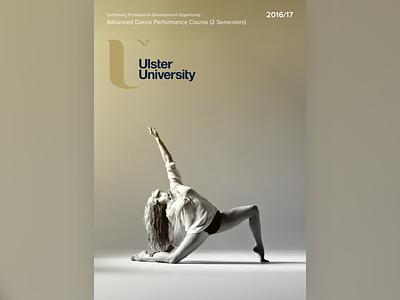 Dance Course Poster gold dance proxima nova