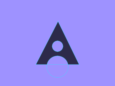 makes.art logo experiments circles triangle a type geometric shapes