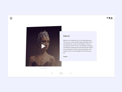 Corey Baker Dance Website WIP fabrik minimal dance web design