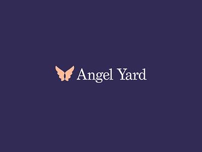 Angel Yard logo - WIP serif logo wing grad