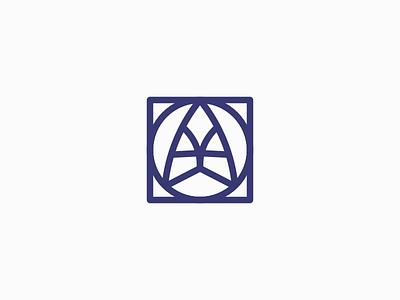 Angel Yard logo - WIP thick line logo monogram