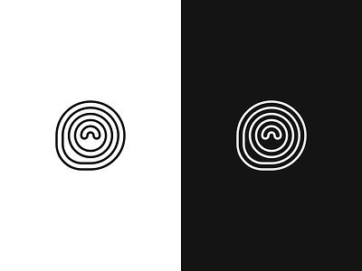 Logo Feedback line stroke circle logo