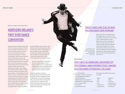 Project Dance column grid print