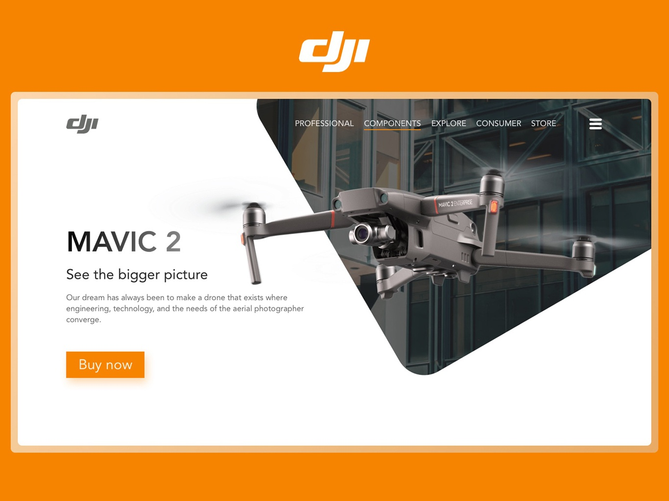 Dji Concept Store Page landingpage landing quadcopter drone dji concept ui ux