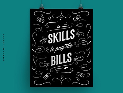 SKILLS TO PAY THE BILLS POSTER