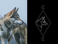 Wolf tarot spirit animal style (in progress)