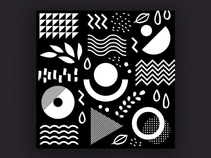 Black and white abstract geometric 1 vector hand drawn shapes black and white pattern geometric abstract