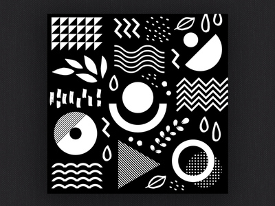 Black and white abstract geometric 1