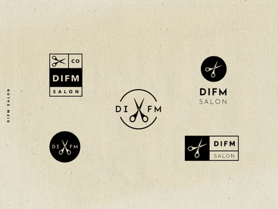 DIFM Salon logo design exploration
