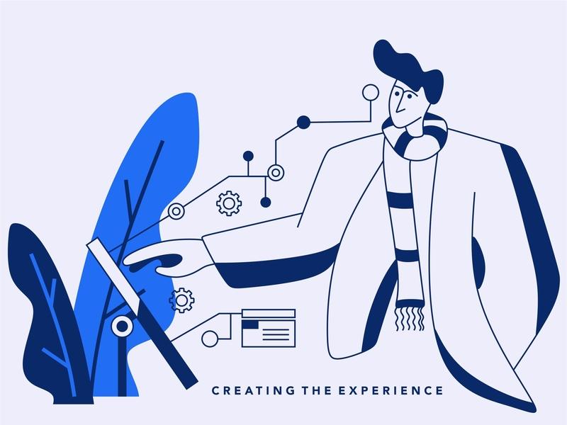 creating tech illustration illustration design